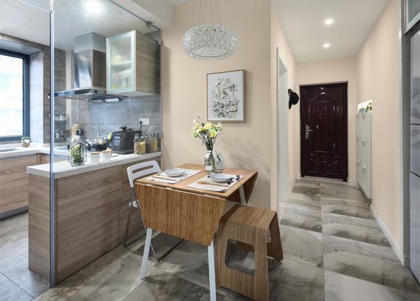 網巾市小區-45平米兩室一廳-現代簡約