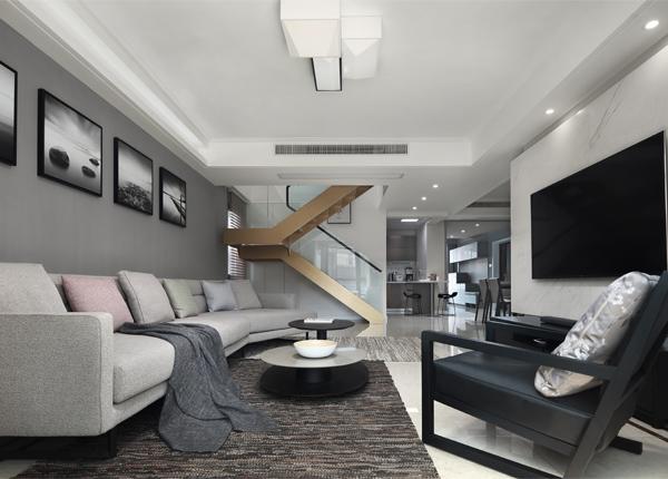 世貿君望墅-140平米三室兩廳-現代簡約