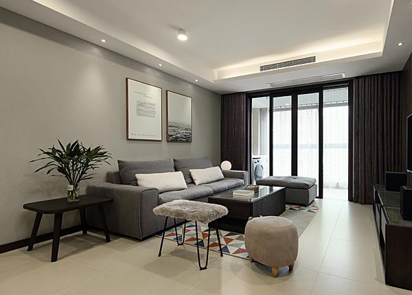 现代简约-复地新都国际-三室两厅-134平米