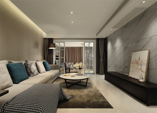 現代簡約-恒安嘉園-三室兩廳-125平米