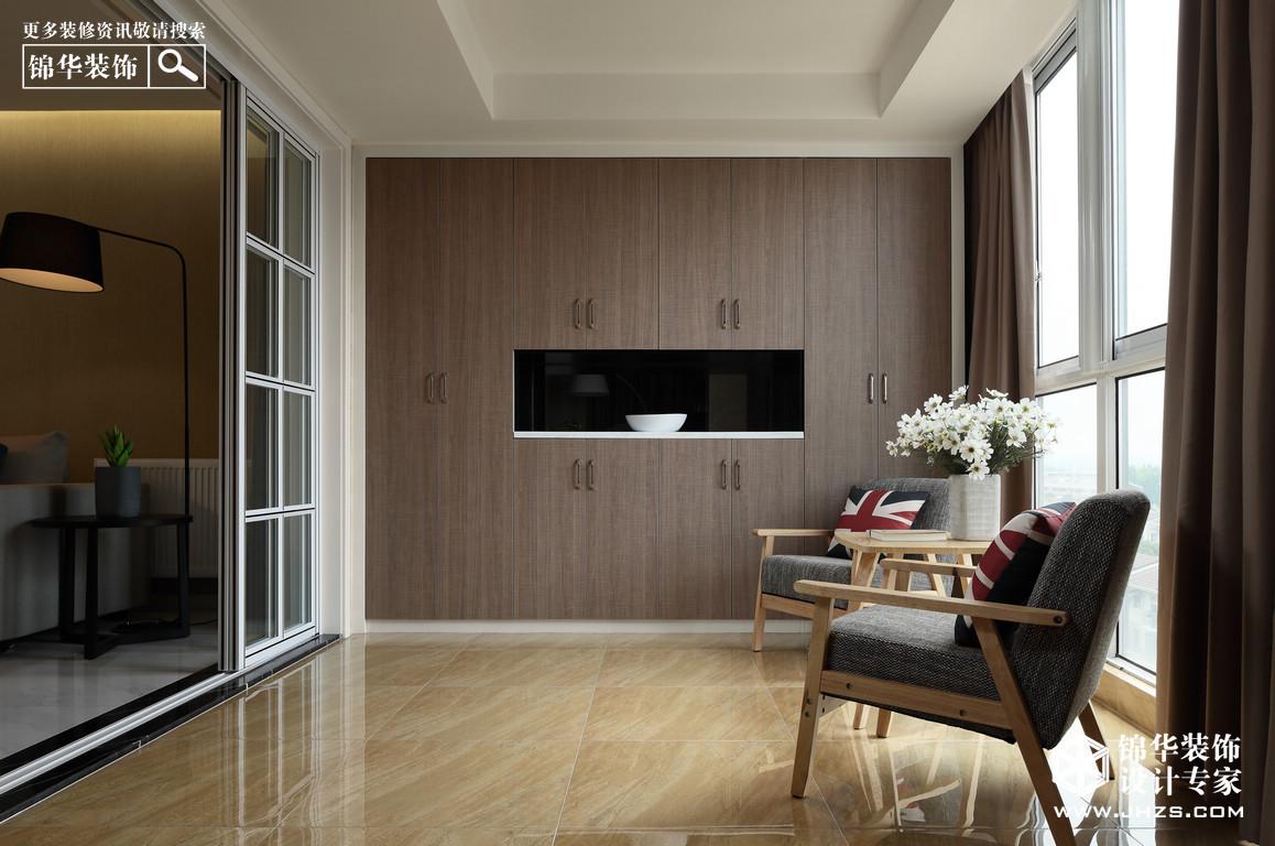 现代简约-恒安嘉园-三室两厅-125平米装修-三室两厅-现代简约