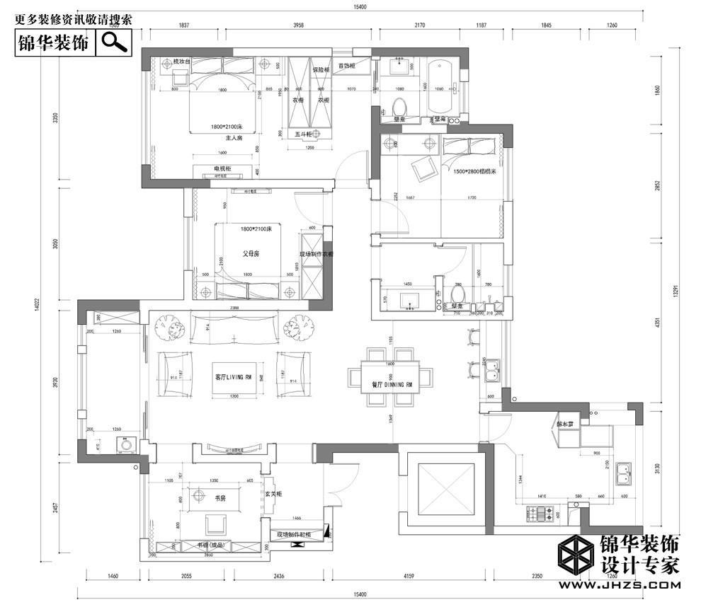 阳光帝景装修-四室两厅-新古典