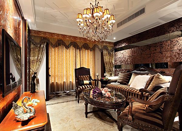 欧式古典-万达东坊-三室两厅-124平米
