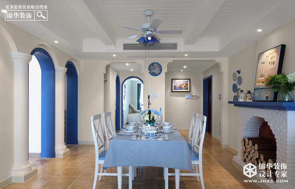 湖畔现代城装修-四室两厅-地中海