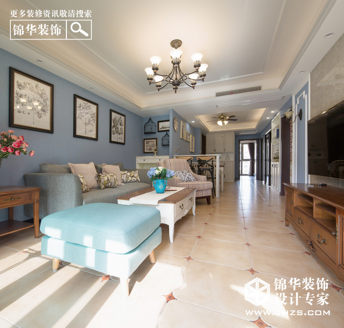 简欧-紫金华府-两室两厅-98平米装修-两室两厅-简欧