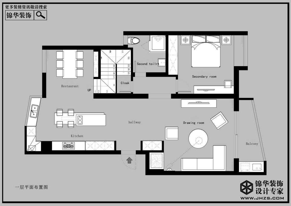 現代簡約-和靜·王宅-躍層復式-200平米裝修-躍層復式-現代簡約