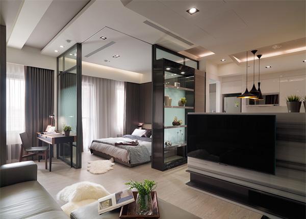 現代簡約-招商依云尚城-兩室一廳-86平米
