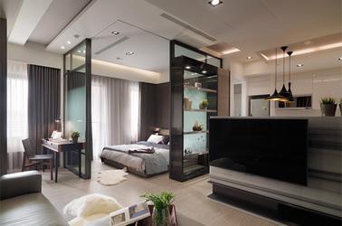 现代简约-招商依云尚城-两室一厅-86平米