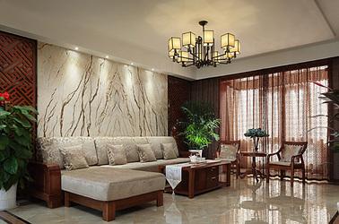 新中式-北江锦城-三室两厅-140平米