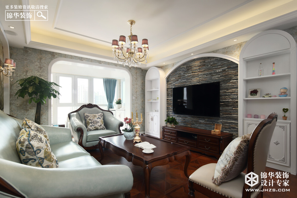 简美-世贸外滩新城-三室两厅-110平米装修-三室两厅-简美
