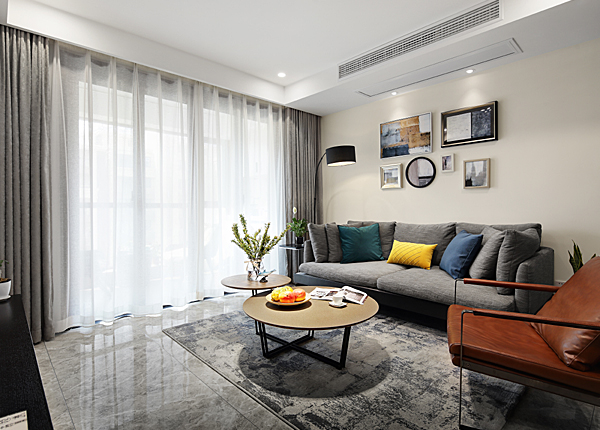 現代簡約-奧克斯鐘山府-三室兩廳-89平米