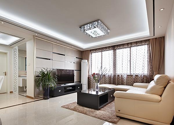 现代简约-钱塘望景-两室两厅-88平米