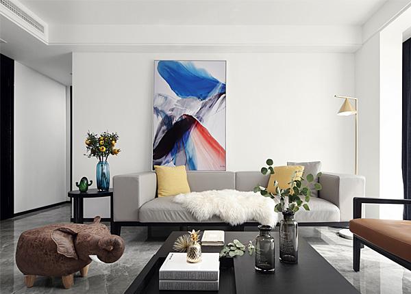 現代簡約-紫金華府-三室兩廳-120平米