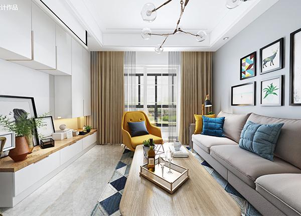 现代简约-华润国际-三室两厅-109平米