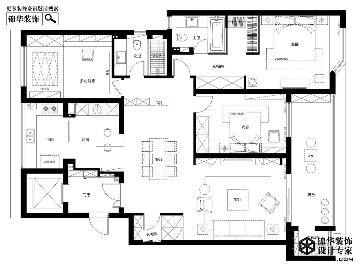 漫步在岁月洪流-郦城御园装修-三室两厅-现代简约