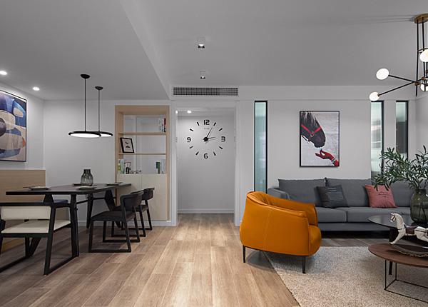 現代簡約-經緯城市花園-三室兩廳-120平米