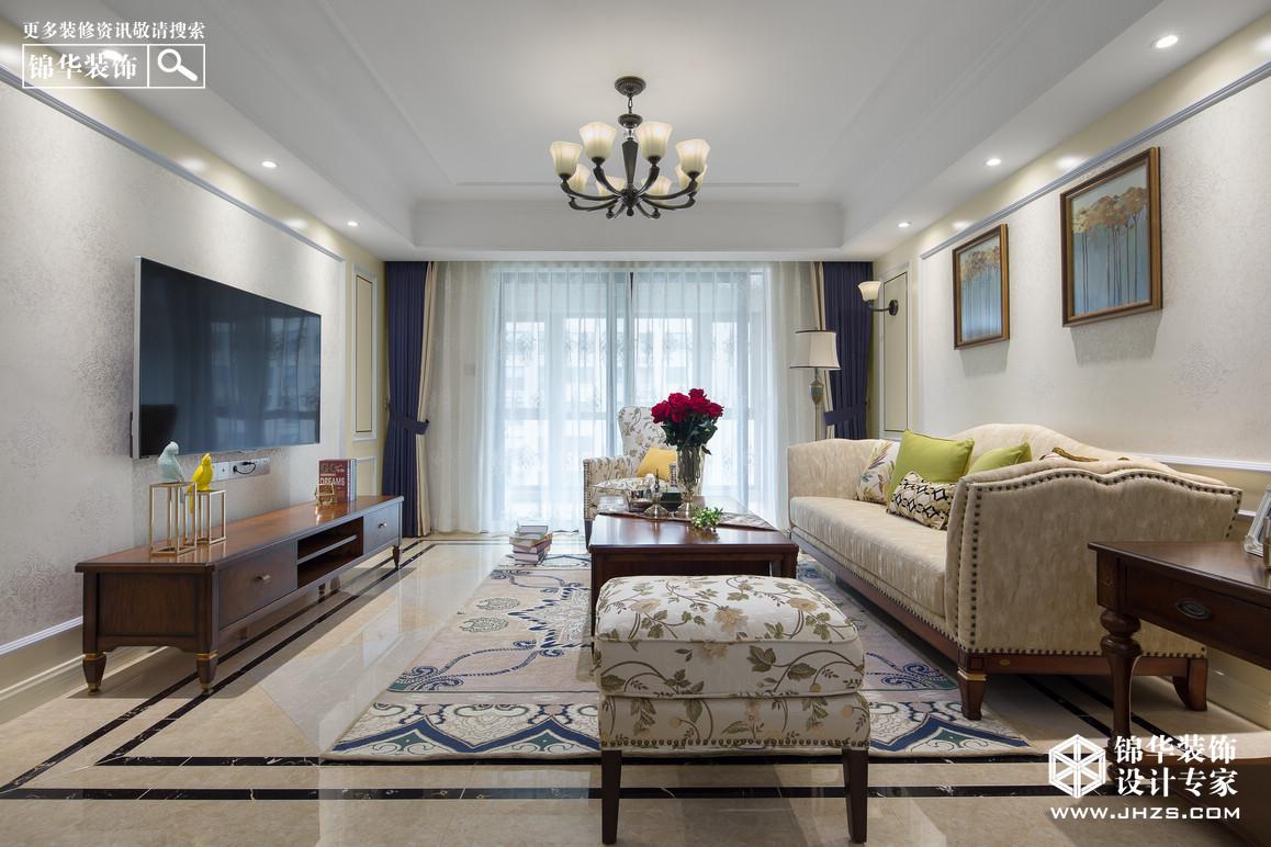 静谧暖阳-雍福龙庭装修-四室两厅-简美