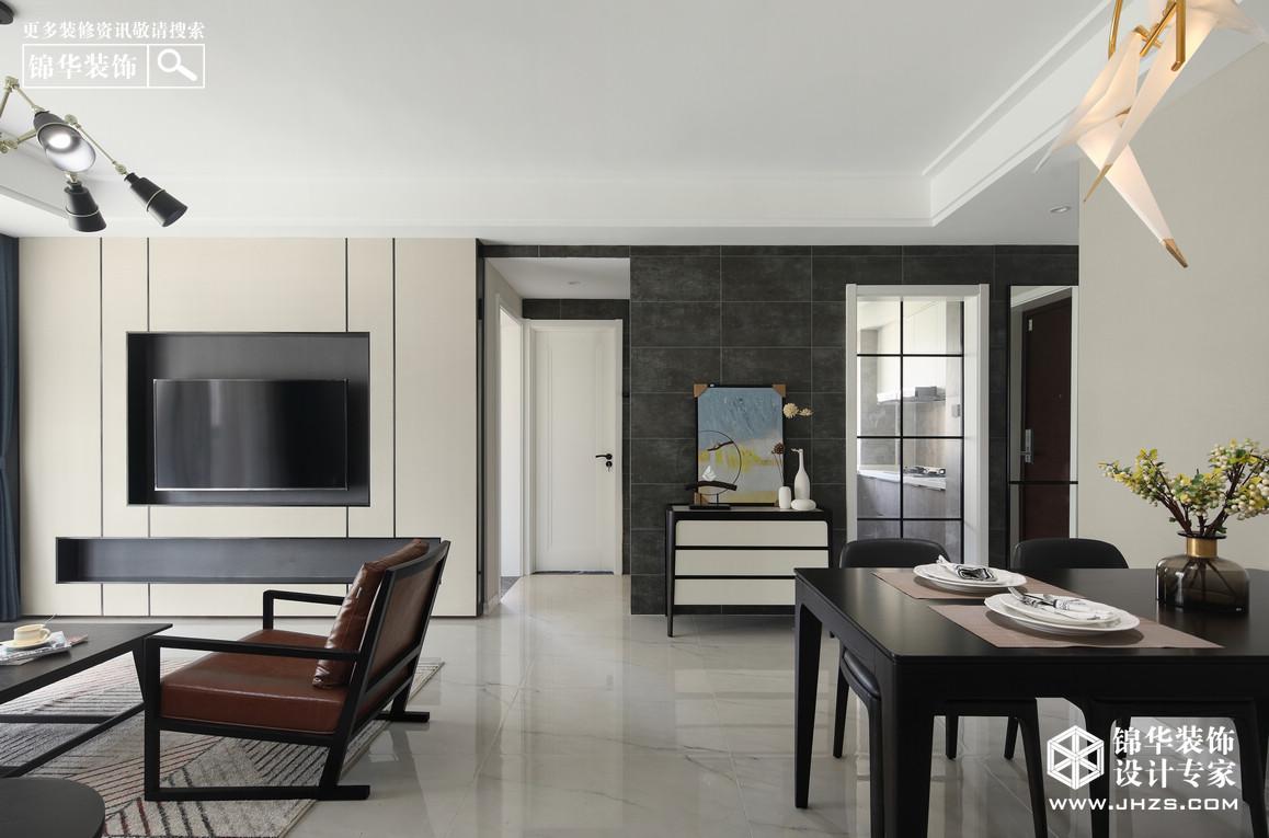 现代人的生活方式-正荣润锦城装修-三室一厅-现代简约