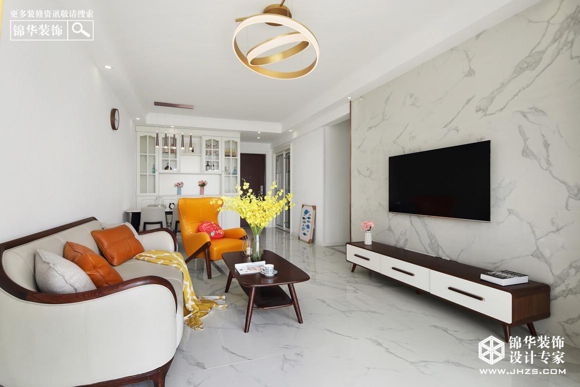 现代简约-正荣润锦城-三室两厅-90平米装修-三室两厅-现代简约
