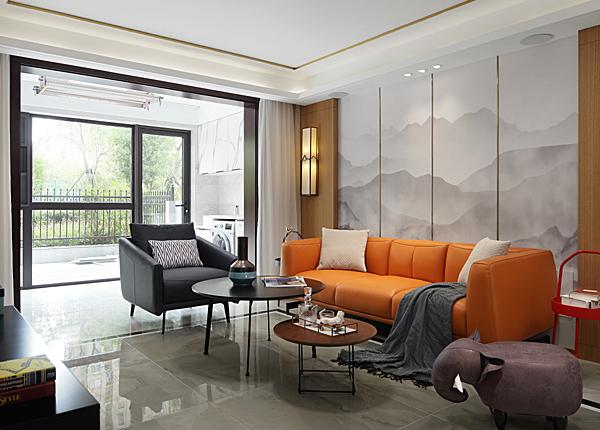 雍福龍庭-117平米三室兩廳-新中式