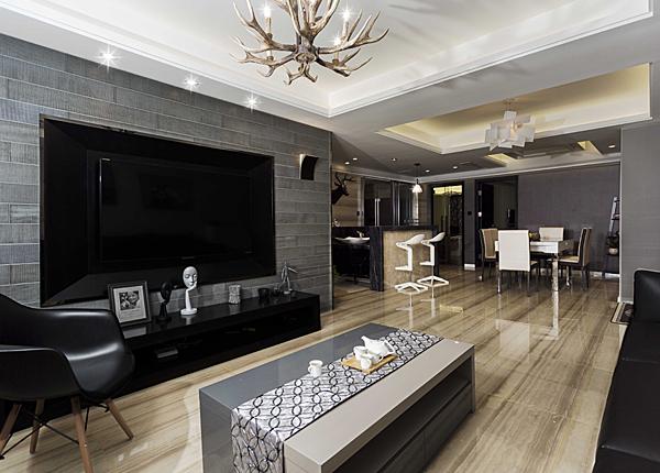 现代简约-悦恒君铂-三室两厅-127平米