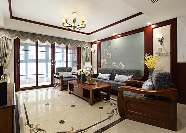 新中式-尚書云邸-三室兩廳-130平米