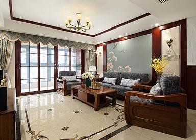 新中式-尚书云邸-三室两厅-130平米