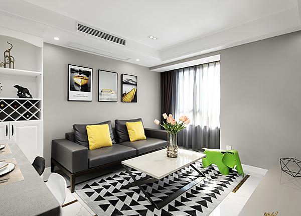 现代简约-明发香山郡-两室两厅-90平米