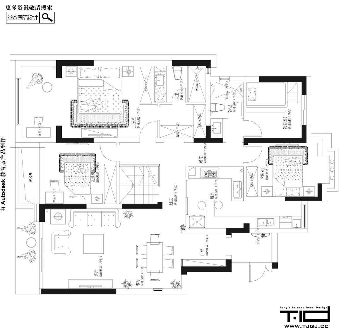 舞动生活-弘阳上院装修-别墅-欧式古典