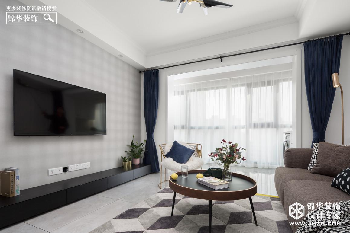 北欧-弘阳爱上花园-三室一厅-85平米装修-三室一厅-北欧