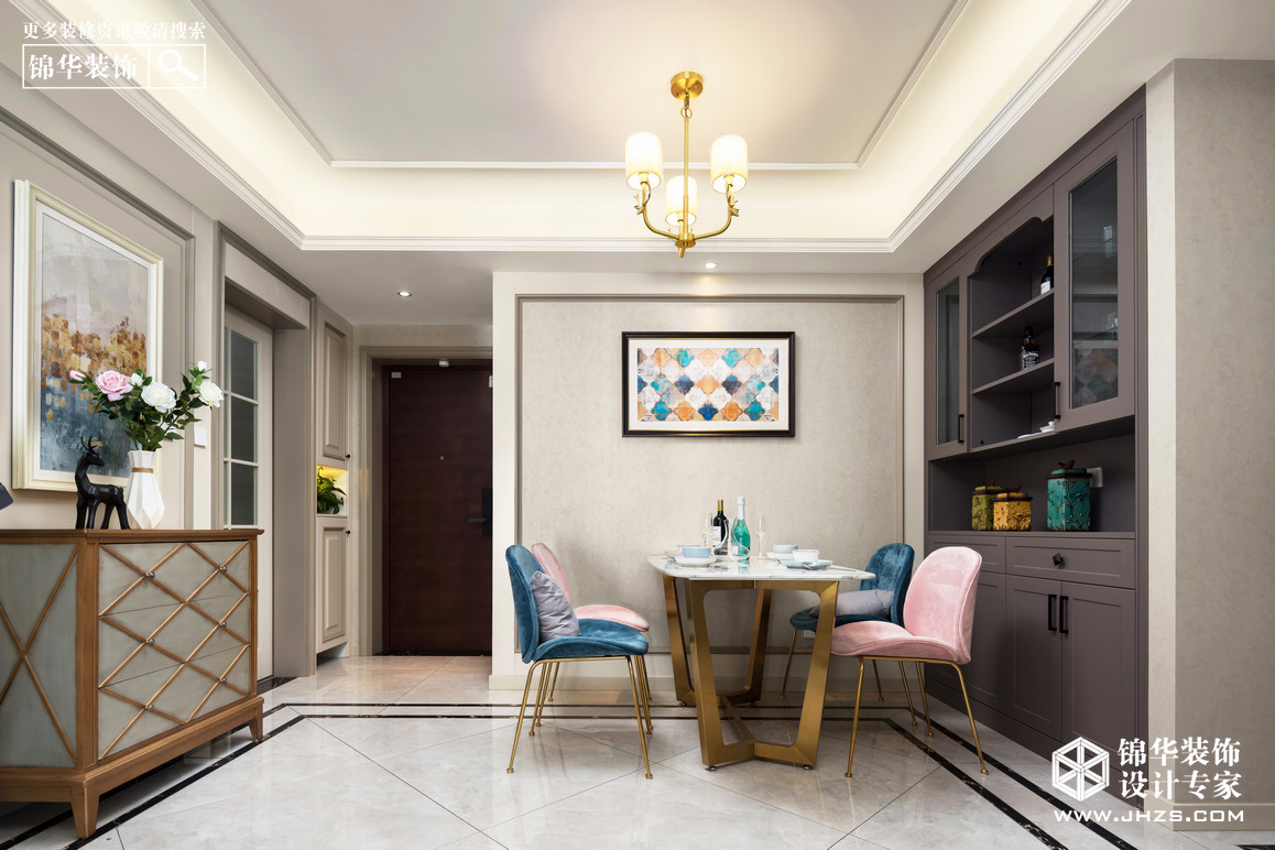 简美-正荣润锦城--三室两厅--105平米装修-三室两厅-简美