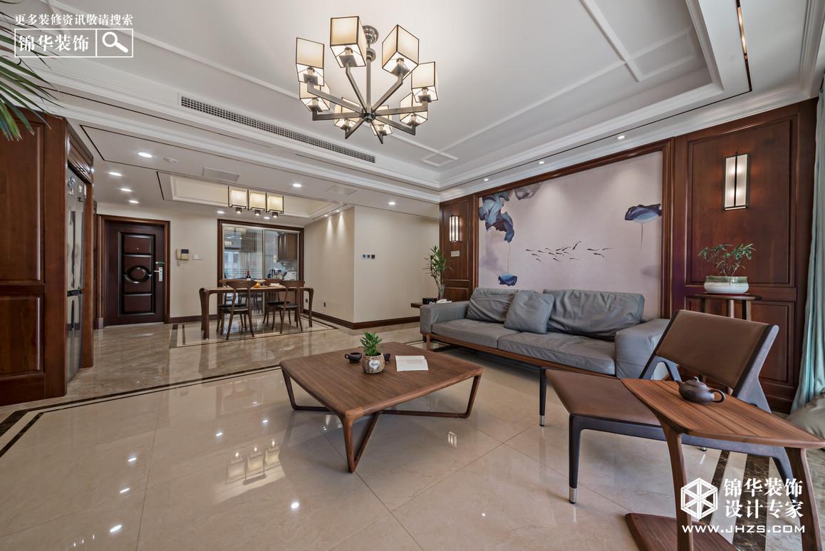 烟雨莫愁-万科金色家园装修-三室两厅-新中式