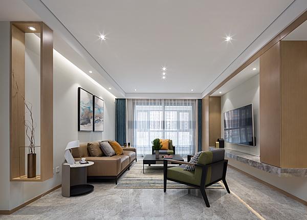 現代簡約-雅居樂濱江國際-四室兩廳-190平米