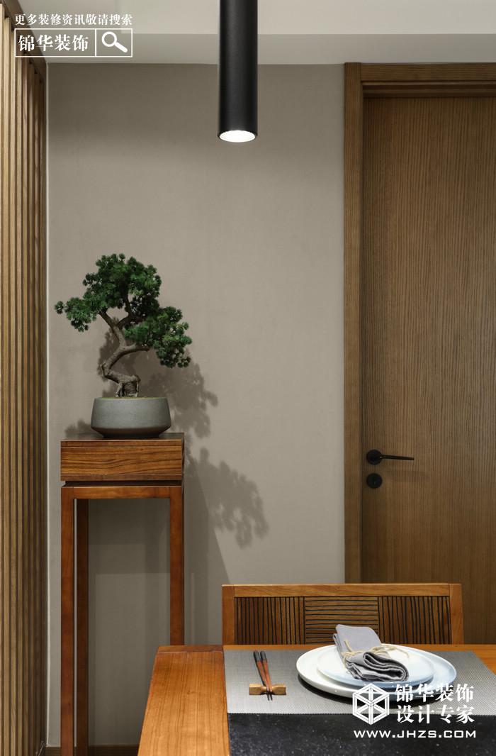 湖景花园装修-三室两厅-新中式