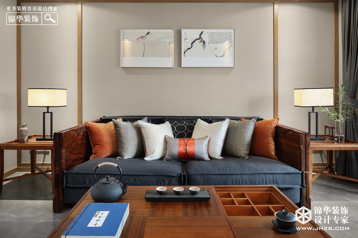 新中式-湖景花園-三室兩廳-140平米裝修-三室兩廳-新中式