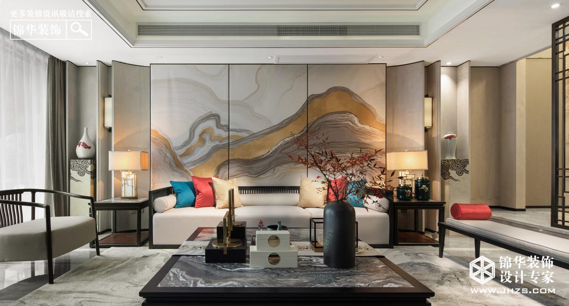 新中式-康泰佳苑-別墅-400平米裝修-別墅-新中式
