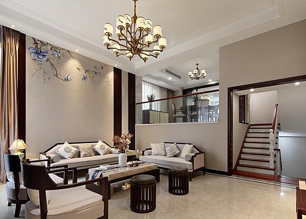 新中式-瑞景文华-别墅-320平米
