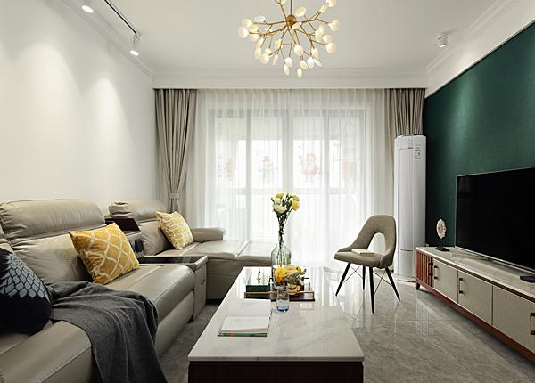 現代簡約-奧克斯鐘山府-三室一廳-89平米