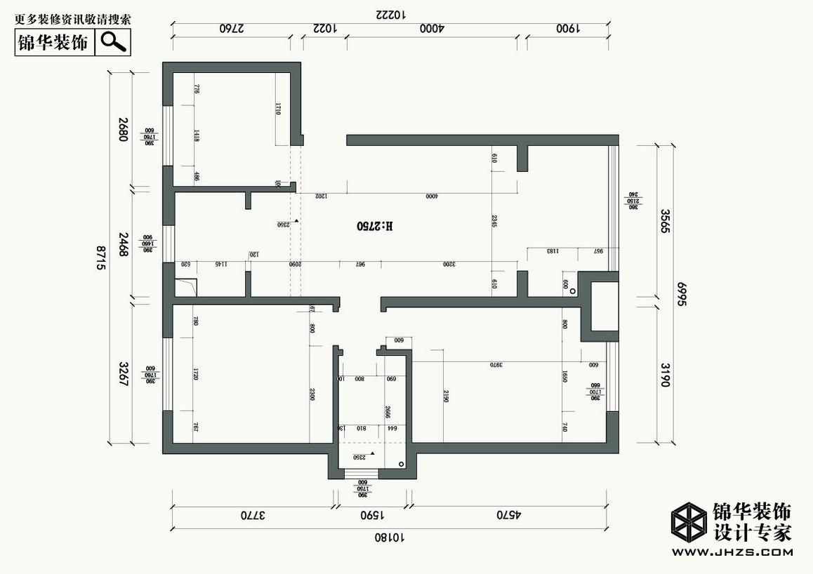 从前慢-四季金辉装修-两室一厅-现代简约