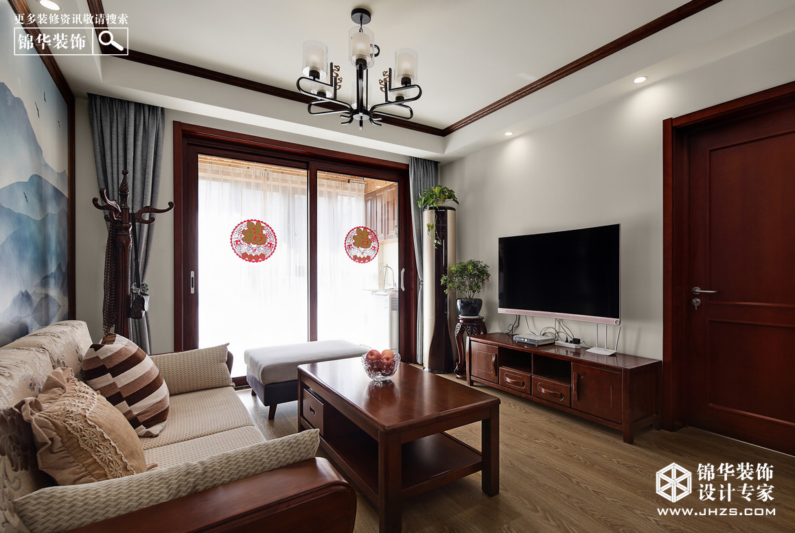 白马澜山装修-三室两厅-新中式