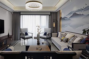 新中式-明发滨江新城-两室两厅-90平米