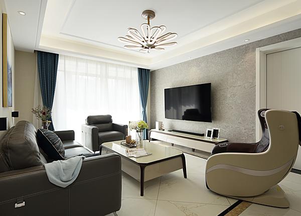 现代简约-弘阳·爱上花园-三室两厅-118平米