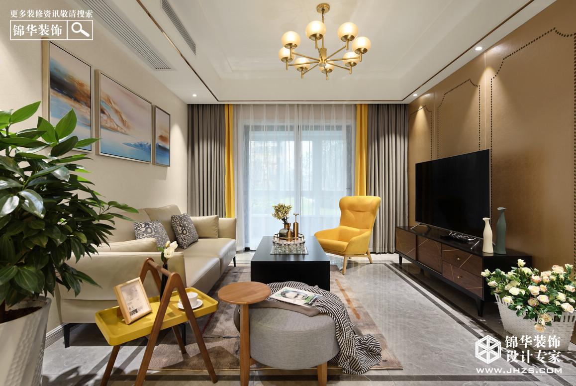 簡美-融創臻園-三室兩廳-124平米裝修-三室兩廳-簡美