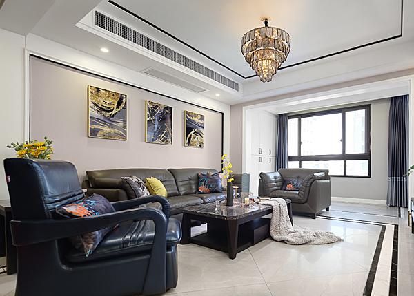 现代简约-金鼎湾 如院-三室两厅-146平米