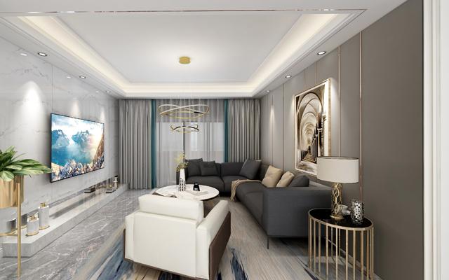 【硬朗】深业滨江公寓168平米 现代轻奢风格
