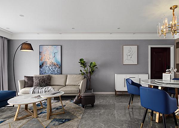 现代简约-亲水湾花园-三室两厅-120平米