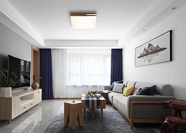 新中式-中粮彩云居-三室两厅-124平米