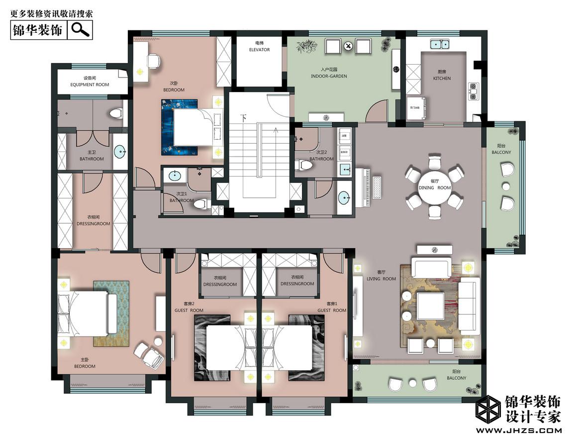 新中式-東方玉園-大平層-218平米裝修-大戶型-新中式