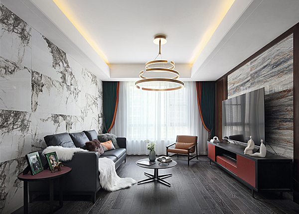 現代簡約-仁恒江灣城-三室兩廳-150平米