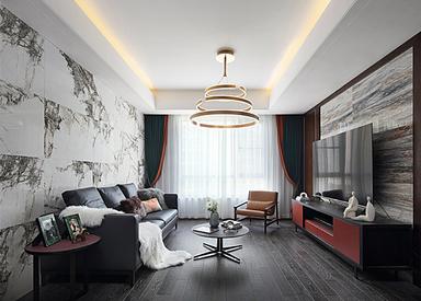 现代简约-仁恒江湾城-三室两厅
